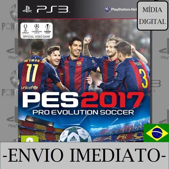 Pes 2017 Ps3 Psn Mídia Digital Pro Evolution Soccer 2017 Pt