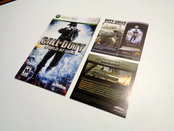 Xbox 360 Manual Original Call Of Duty World At War
