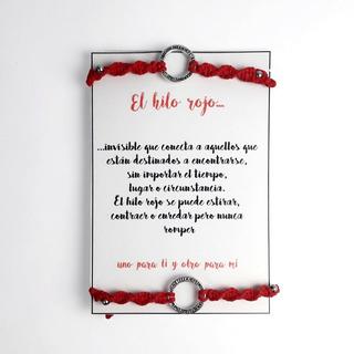 Pulsera Hilo Rojo - Hilo Rojo Novios - Regalos Para Novios