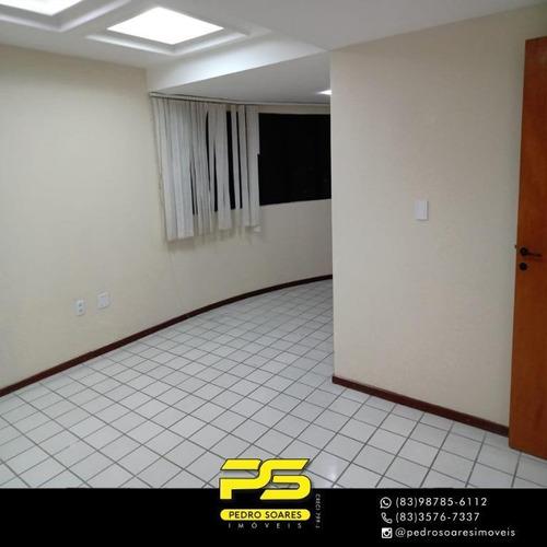 Apartamento Com 4 Dormitórios Para Alugar, 247 M² Por R$ 4.500/mês - Brisamar - João Pessoa/pb - Ap3850