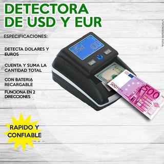 Detector Contadora Billetes Falsos Banknote Dólar Euro 85ve