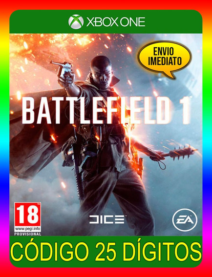 Battlefield 1 Xbox One - 100% Original 25 Dígitos (envio Já)
