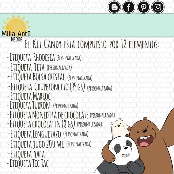 Kit Imprimible Candy Bar Escandalosos- Original Milla Antü