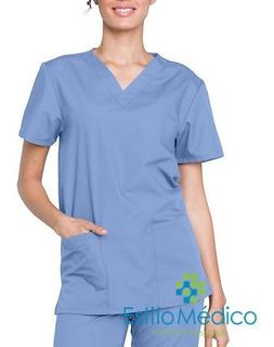 Conjunto Pijama Cirúrgico Leve Em Gabardine Bordado Nome