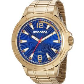 Relógio Mondaine Masculino Dourado 83452gpmvde2 + Nf