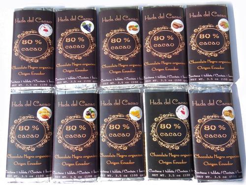 Pack X 5 Chocolate 80% Cacao Stevia Diet C Frutos Vs X 1/2 K