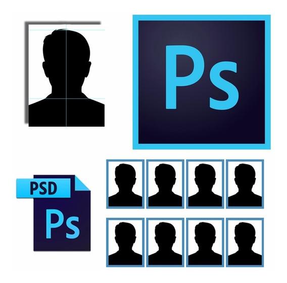 Cartela Composição Foto 3x4 P/photoshop + Vídeo Instrucional