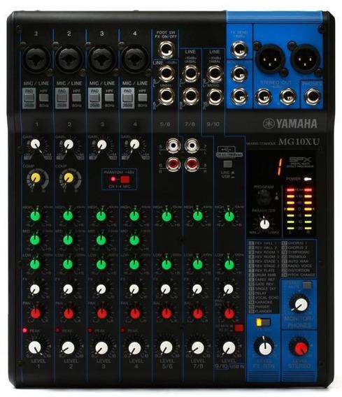 Mesa De Som 10 Entradas Efx Mg10xu - Yamaha