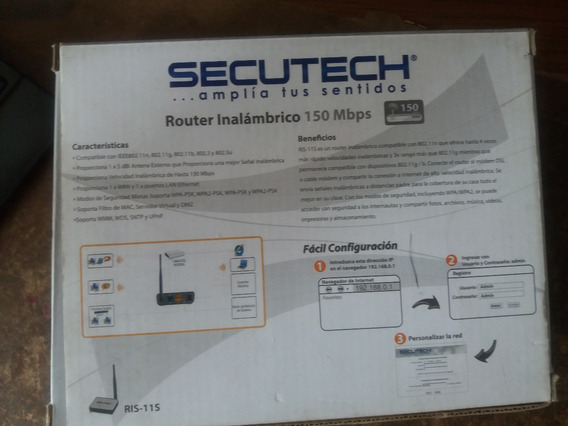 Router Inalambrico Secutech 150mbps