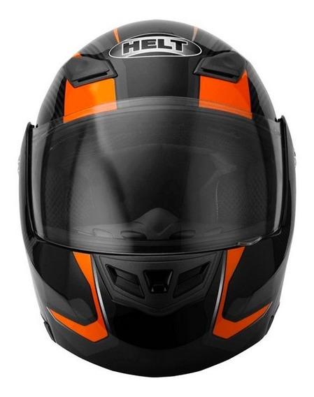 Capacete Hippo Faster 936 N 58 Preto/laranja