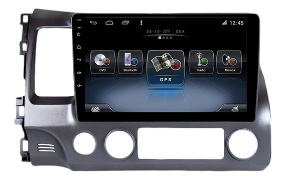 Multimidia Honda Civic 07 08 09 10 11 4k Cam Front Octacore