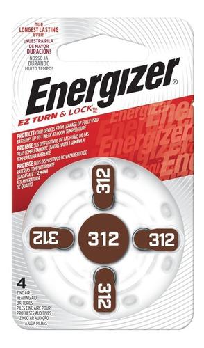 Imagen 1 de 3 de 24 X Pilas Para Audifonos Energizer Az312 Caja X 24