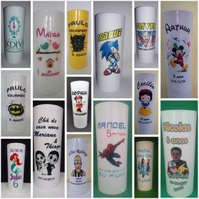 Copo Long Drink Em Acrílico Personalizado 300ml (30 Unid.)