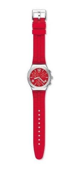 Relógio Swatch Rouge De Bienne Ycs117 Aço Vermelho Original