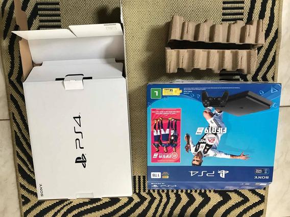 Caixa Original Playstation 4 Slim 1 Tera No Estado!!