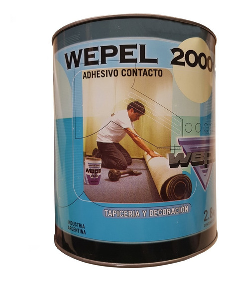 Adhesivo Wepel W2000 Doble Contacto 2,8 Kg 4lt Cuotas
