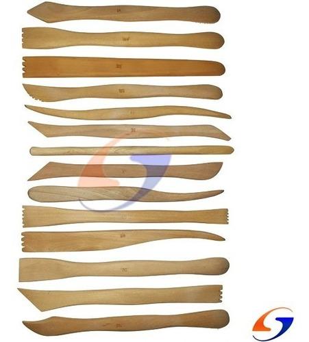 Estecas De Madera Para Escultura Pack X15 Serviciopapelero