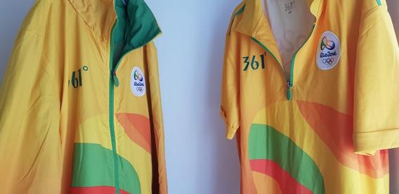 Conjunto Olimpiadas Rio 2016 - Casaco + Camisa Polo - Usado