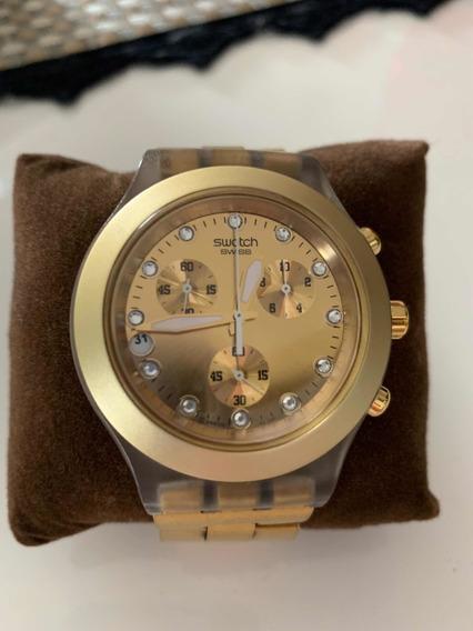 Relógio Swatch Full Blooded Dourado Svck4032g - Usado