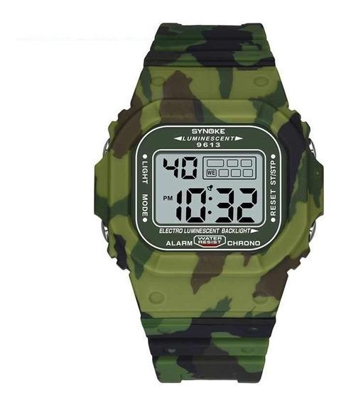 Relógio Masculino Synoke 9613 Digital Esportivo Militar Nf