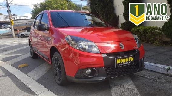 Renault Sandero Gt Line 1.6 8v Flex 2014 Vermelho Completo