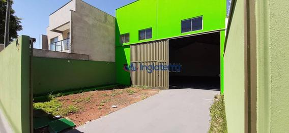 Barracão Para Alugar, 200 M² Por R$ 3.200,00/mês - Chácaras Mussahiro - Londrina/pr - Ba0045