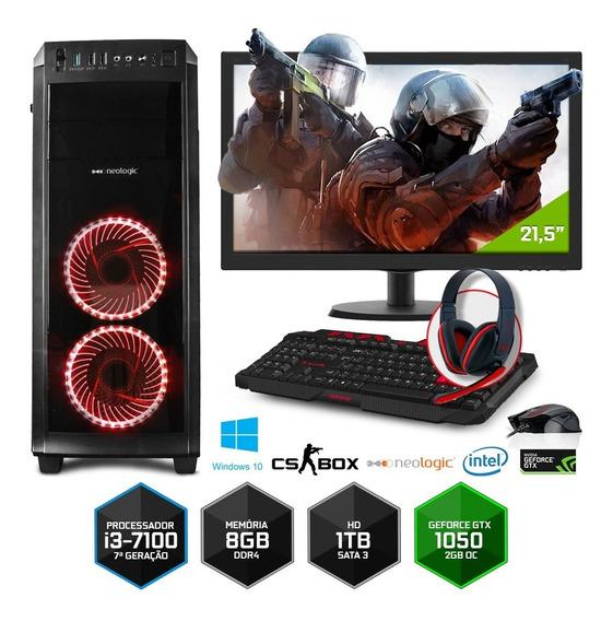 Pc Gamer Neologic Cs Box Nli7035 I3 8gb (gtx 1050)1tb+ W10