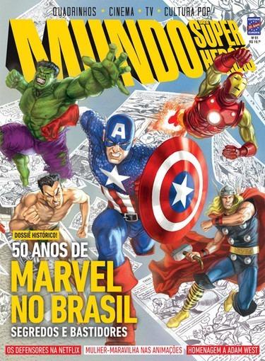 Lote 05 Revistas Mundo Dos Super Heróis!!