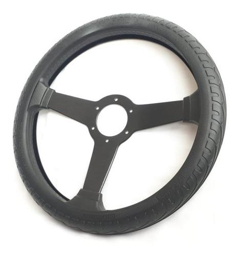 Forro Para Timon Cubre Volante Negro En Silicona 153