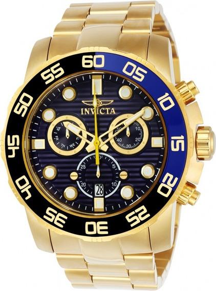 Relógio Invicta Pro Diver 21555 Banho A Ouro 18k Original