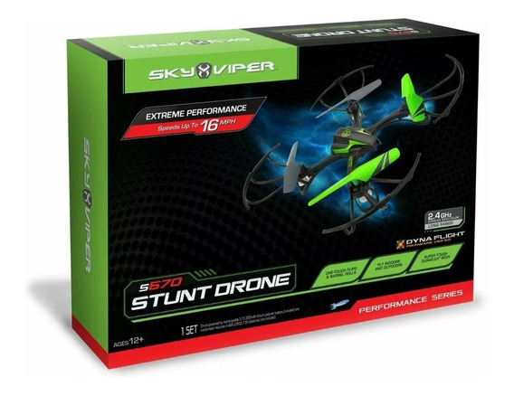 Stunt Drone S670 Sky Viper Série Performance Versão 3.0