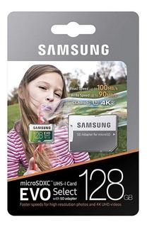 Microsd Evo Select 128 Gb - Samsung 100mb/s Com Adaptador