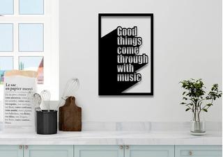 Quadro Decorativo Musical - Promoção Aproveitem - Barato