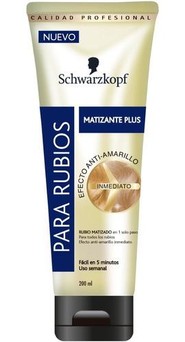 Matizante Plus Schwarzkopf Efecto Anti-a - mL a $75
