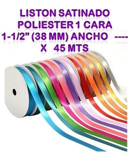 Liston Satinado Poliester 1 Cara 1-1/2 (38 Mm) Ancho X 45 M