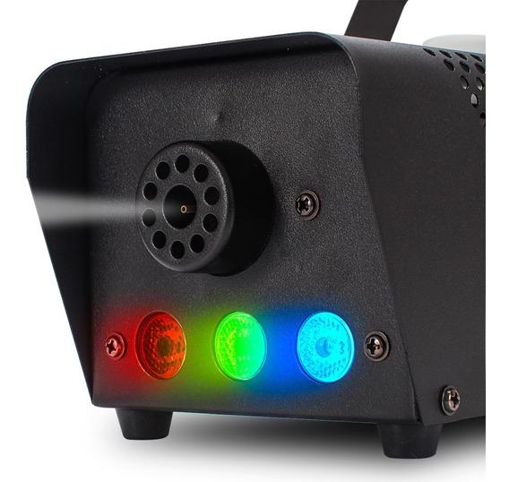 Maquina Fumaça Rgb 700w Profissional Iluminação Controles Dj