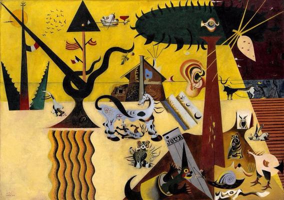 Poster Foto Hd Joan Miró 65x100cm Gravura Obra Terra Lavrada
