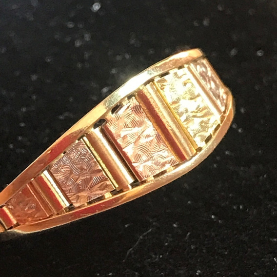 Anillo Calado Oro Florentino 14k, Peso 3.2g