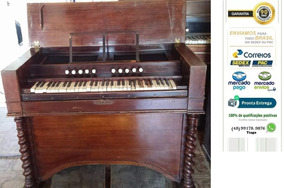 Piano Harmonio Britânico Com Fole Lambert & Compy - Raridade
