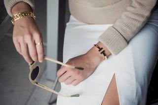 Pulseira Bracelete Coração T Square Aço Inoxidável Banhado