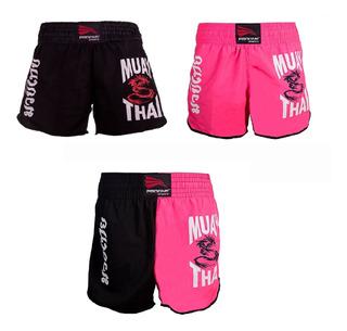 Short Muay Thai Calção Luta Feminino Progne Sports Top