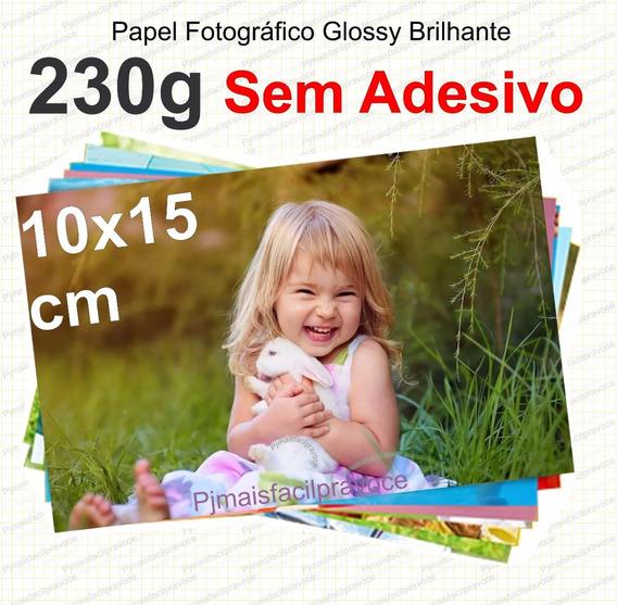 1000 Folhas Papel Fotográfico Glossy Brilhante 10x15 230g A6