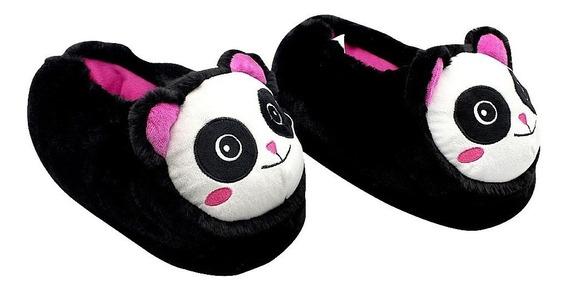 Pantufa Feminina Panda 3d