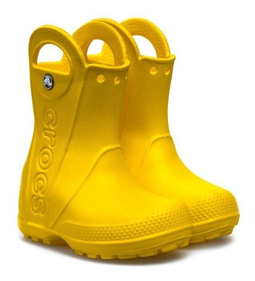 Bota Lluvia Crocs Handle Rain Kids - Yellow
