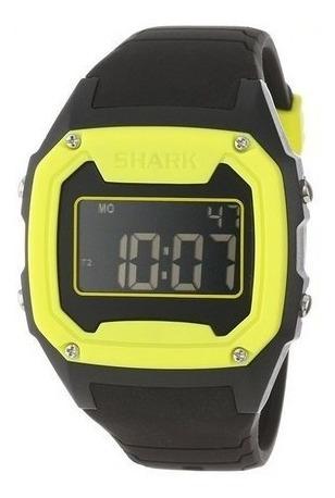 Relógio Killer Shark Silicon Preto Amarelo Freestyle Eua