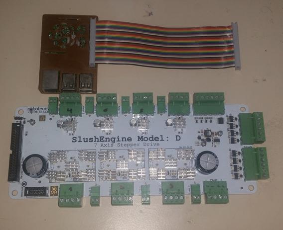 Driver Hasta 7 Step Motors Slushengine Model D Con Raspberry