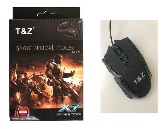 Kit 5 Mouse Gamer Computador Televisão Notebook 1600 Dpi X7