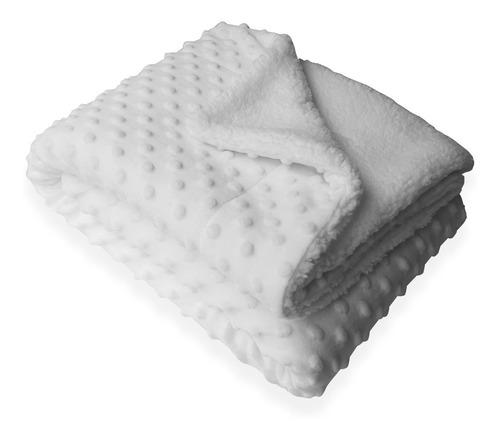 Imagen 1 de 2 de Manta Cobija Hipoalegénica Reversible Blanca Baby Wrap Bebé