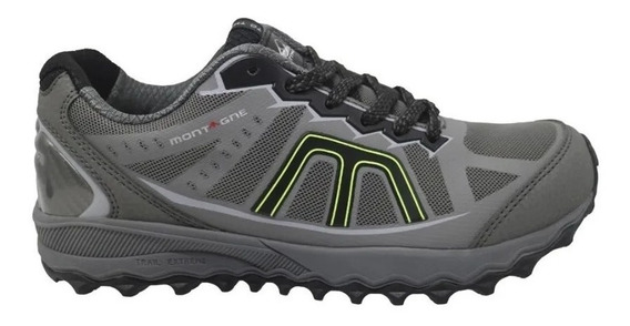 Zapatillas Montagne Trail Extreme Hombre Running Gris