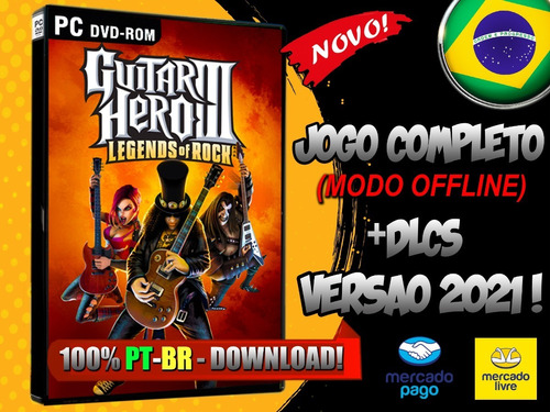 Guitar Hero 3 Legend's Of Rock! Pc - Completo Midia Digital